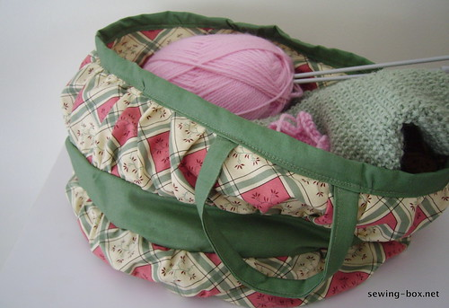 Reproduction Fabric Victorian Sewing Basket