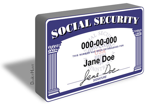 Social Security Card - Illustration   by DonkeyHotey