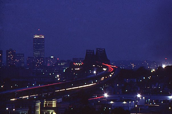 Tobin Bridge Time Exposure, Boston, 1982