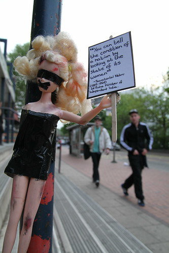 23. Barbie provoking conversations offline and online about gender inequality   by craftivist collective