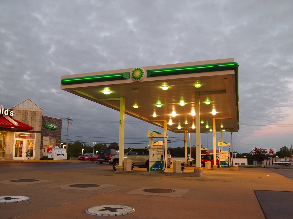McDonald's and BP Combination Gas Station and Restaurant i