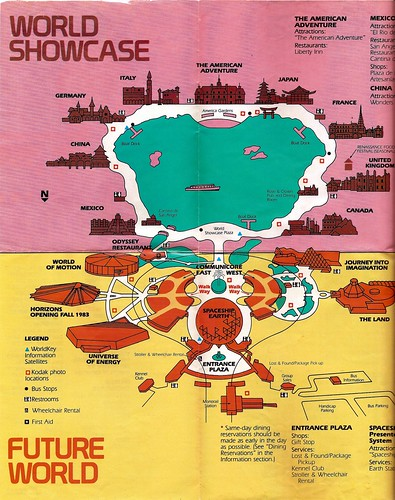 EPCOT Center map 1983 4 | by Gator Chris