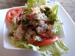 日, 2011-04-03 12:20 - Malecon Restaurant エビのサラダ