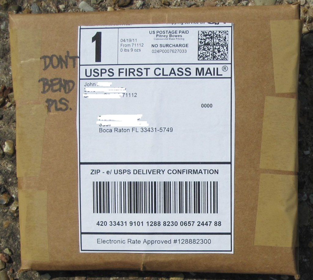 1 package mailed via USPS first class mail -- SAMPLE packa… | Flickr