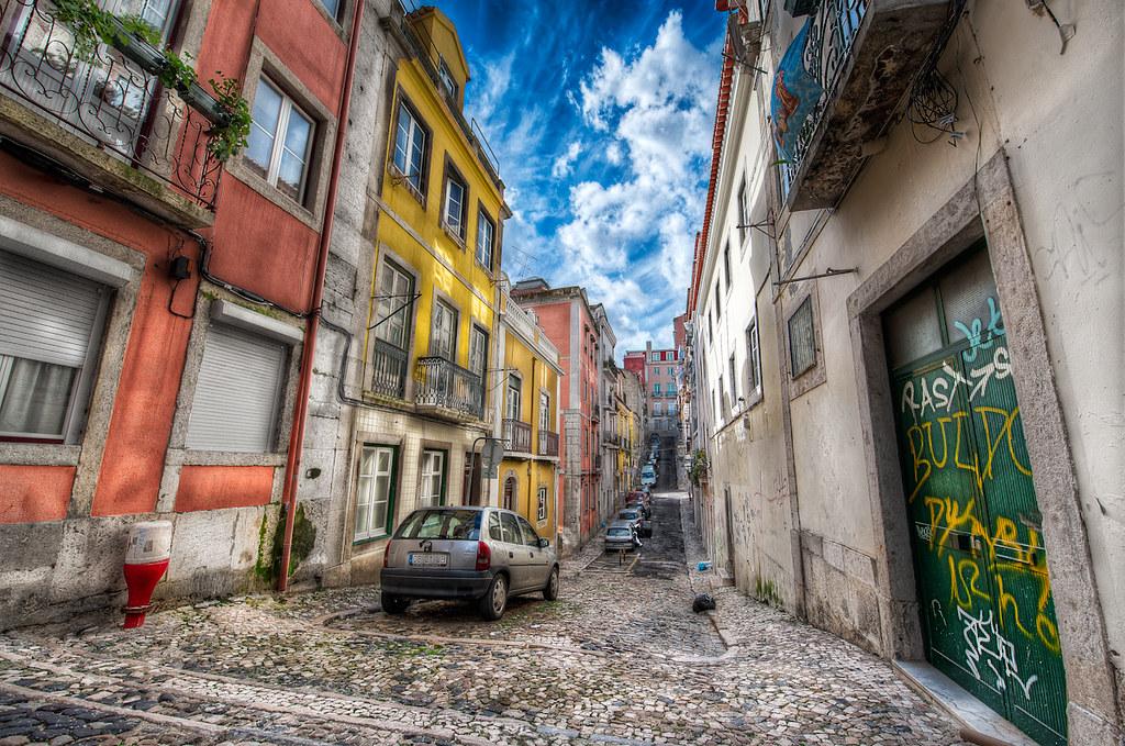 Urban Color - (HDR Lisbon, Portugal)