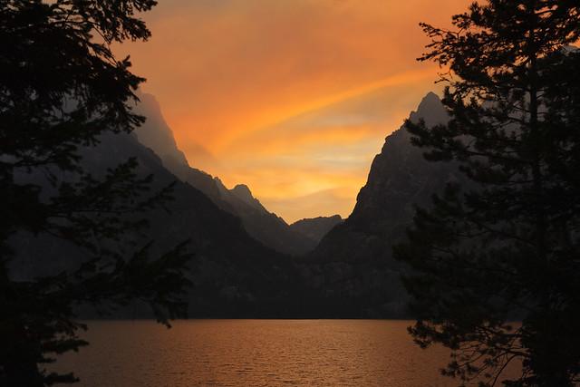 Sunset at Cascade Canyon