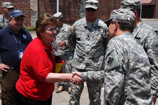 FEMA representative meets with USACE, National Guard
