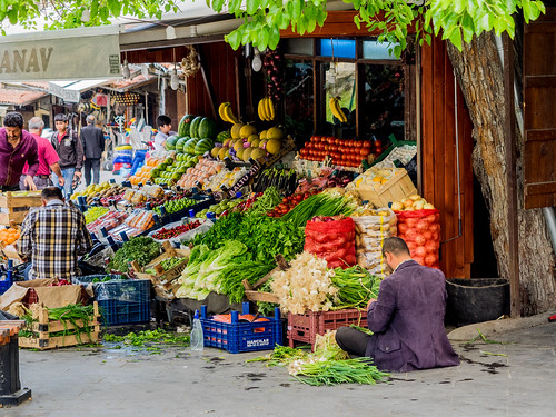 Early morning preparations in the greengrocers store / Gaziantep City / Turkey | by fotopamas
