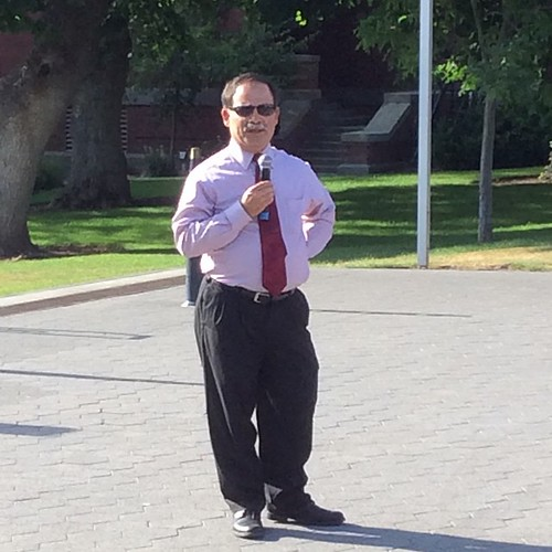 Acting #WSU President Dan Bernardo speaking to the crowd at the student-led service. #GoCougs #IHeartEFlo