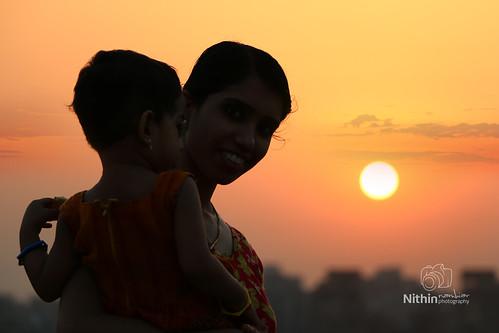 sunset silhouette canon landscape outdoor delhi eos70d