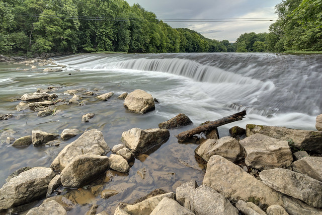 Low dam, Roaring River, Jackson County, Tennessee