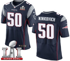 Nike Patriots #50 Rob Ninkovich Navy Blue Team Color Super Bowl LI 51 Men's Stitched NFL New Elite Jersey