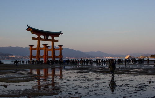 miyajima japan travel landscape sunset grouptripod