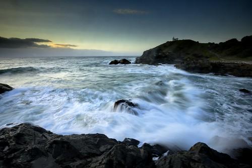 aus australia newsouthwales portmacquarie liitlebay nikond750 seascape rocks waves rugged