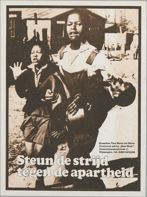 Steun de strijd tegen apartheid
