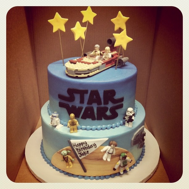 Fine Star Wars Birthday Cake We Twisted Our Old Star Wars Cake Flickr Funny Birthday Cards Online Fluifree Goldxyz