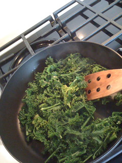 Steam kale for about 3 minutes | by Christine Rondeau
