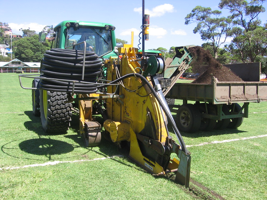 Balmoral Oval - installation of subsoil drainage | Mosman Co… | Flickr