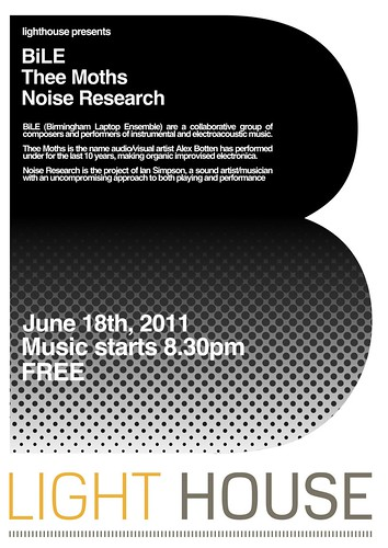 BiLE, Thee Moths, and Noise Research, Free, at Light House Wolverhampton, on the 18th of June | by hellocatfood