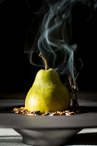 Pear with Smoked Cota