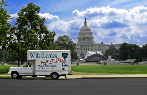 wikileaks truck capitol hill | by Wikileaks Mobile Information Collection Unit