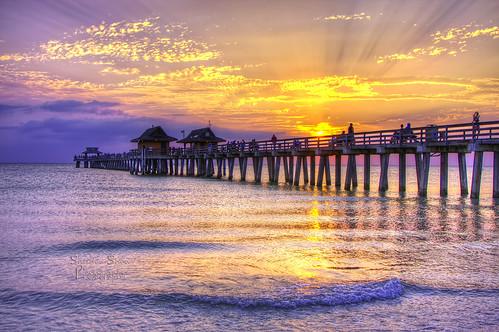 sunset pier florida ngc naples shaw sheldon greatphotographers