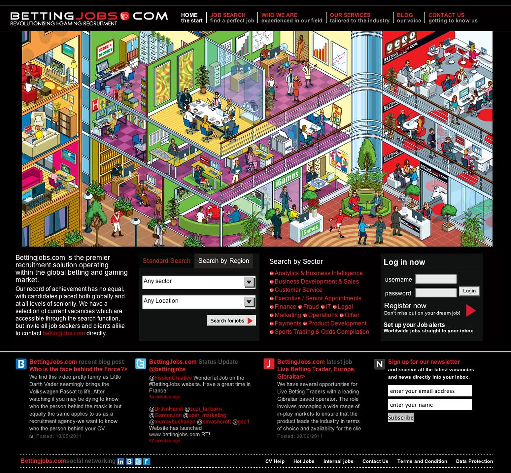 Bettingjobs com website illustration - isometric pixel art