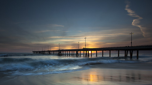 venice sunset seascape beach reflections landscape for pier long exposure day waves xo nina goodbye fornow grandmapassed pwpartlycloudy