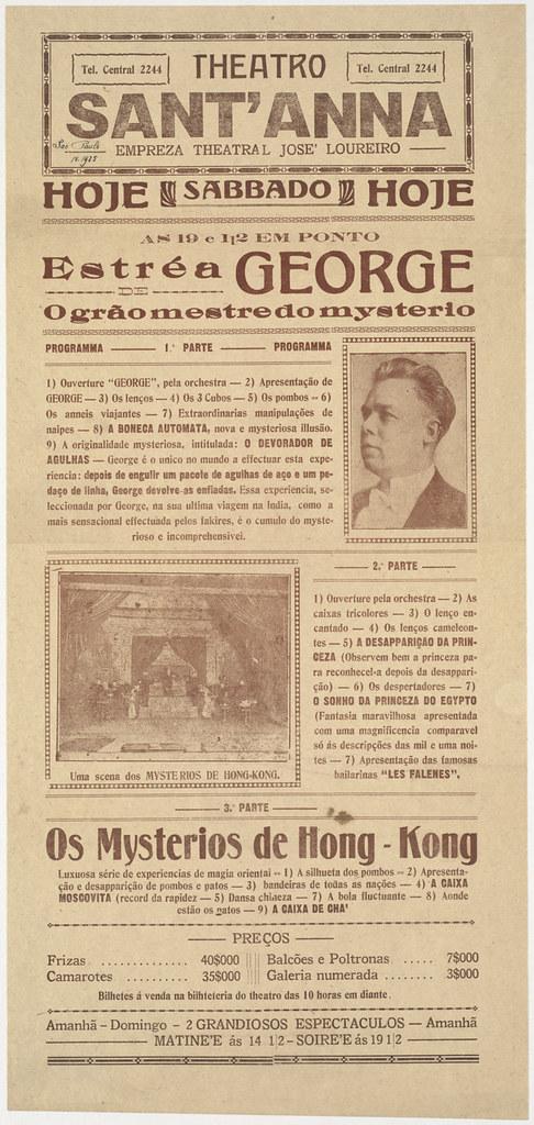 Theatro Sant'anna : Estré a George de o grão mestre do mysterio