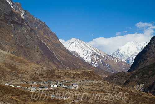 nepal snow mountains nature buildings landscape outdoors nationalpark asia village scenic valley himalaya barren highaltitude langtang langtangnationalpark chyamki