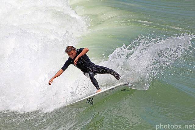 Surf at Avalon Pier