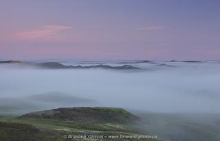 Dense fog in Grasslands National Park badlands   by Branimir Gjetvaj