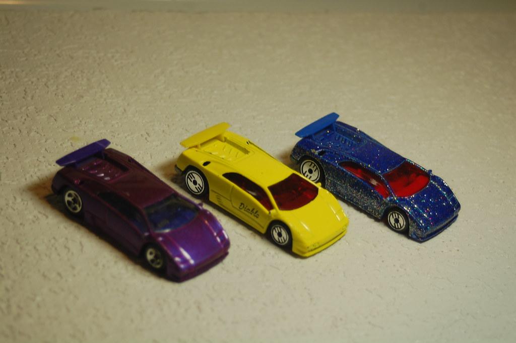 Three Mattel Hot Wheels Lamborghini Diablo Toy Cars Flickr