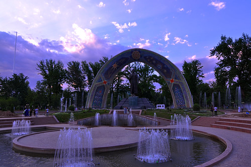 sunset asia central tajikistan dushanbe rudaki