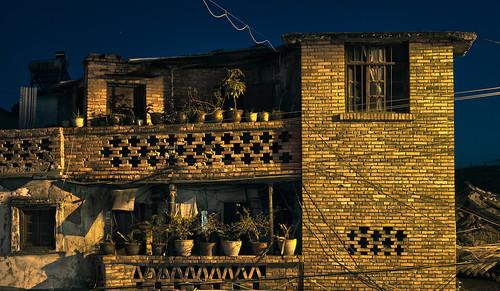 yellow brick home