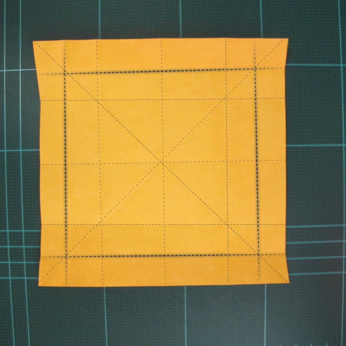 สอนวิธีพับกระดาษเป็นดอกกุหลาบ (แบบฐานกังหัน) (Origami Rose - Evi Binzinger) 004
