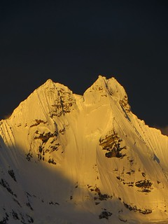 Jirishanca (6090m) at sundown. | by Pikes On Bikes