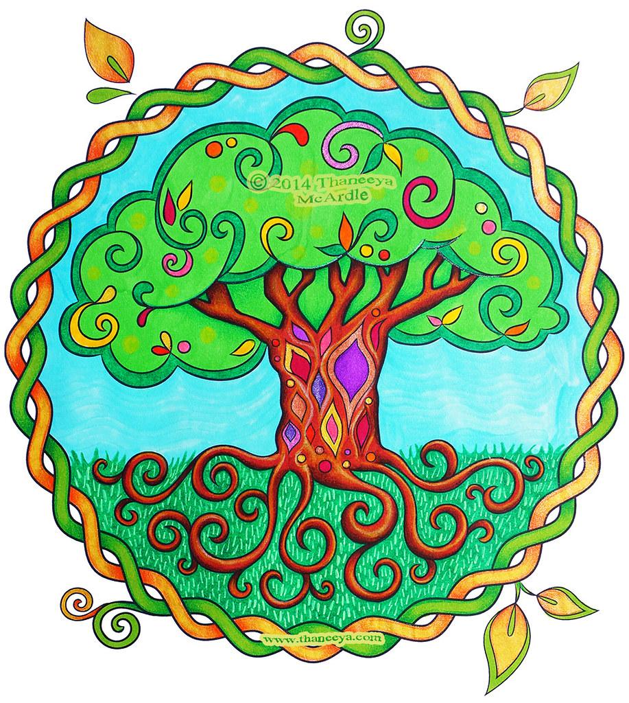 Think Happy Coloring Book by Thaneeya McArdle — Thaneeya.com | 1024x917