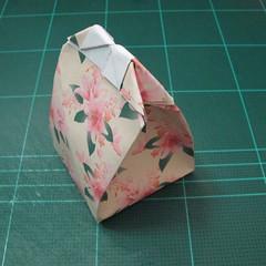 การพับกระดาษเป้นถุงของขวัญแบบไม่ใช้กาว (Origami Gift Bag) 017