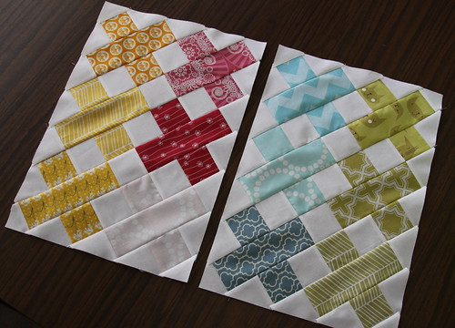 More initial blocks for the Roaming Quilt Bee | by Kelsey Creates