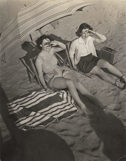 Two Women on the Beach with Shadows - My Venture Into the Vernacular #2