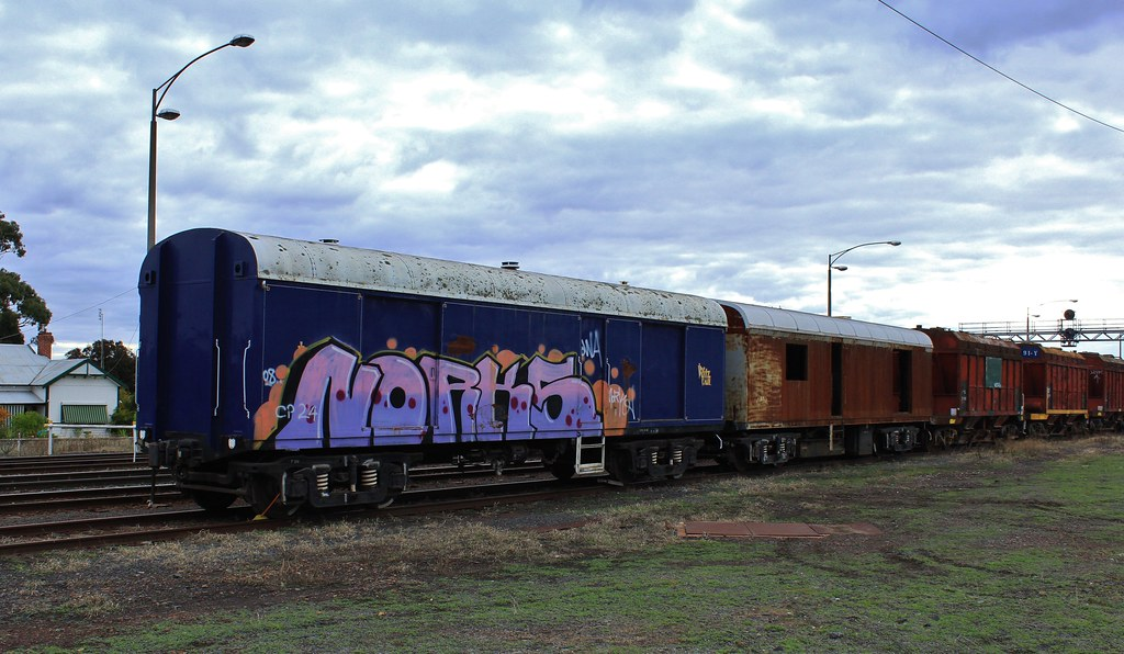 CP24 and CP30 join the stored cement wagons at Dimboola by bukk05