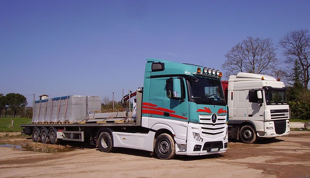 Mercedes-Benz Actros 1845 BlueEfficiency Power and DAF XF
