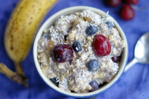 Red White and Blue Vegan Overnight Oats | by miriamwilcox