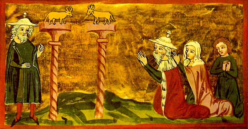 Jeroboão e os dois bezerros de ouro | Artista: Anônimo (Sécu… | Flickr