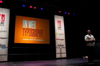 Jason Santa Maria at the Ampersand web typography conference, 2011 | by jontangerine