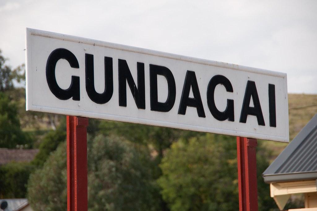 Gundagai Station Sign by John Cowper