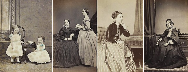 CDV's of Ladies, Young and Old, with Books