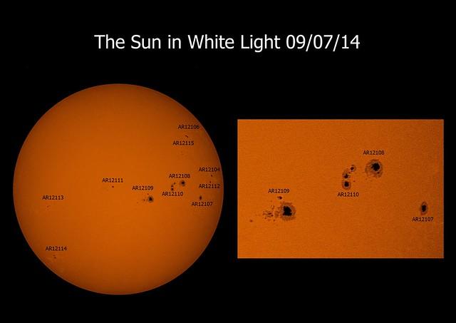 Sun in white light 09/07/14