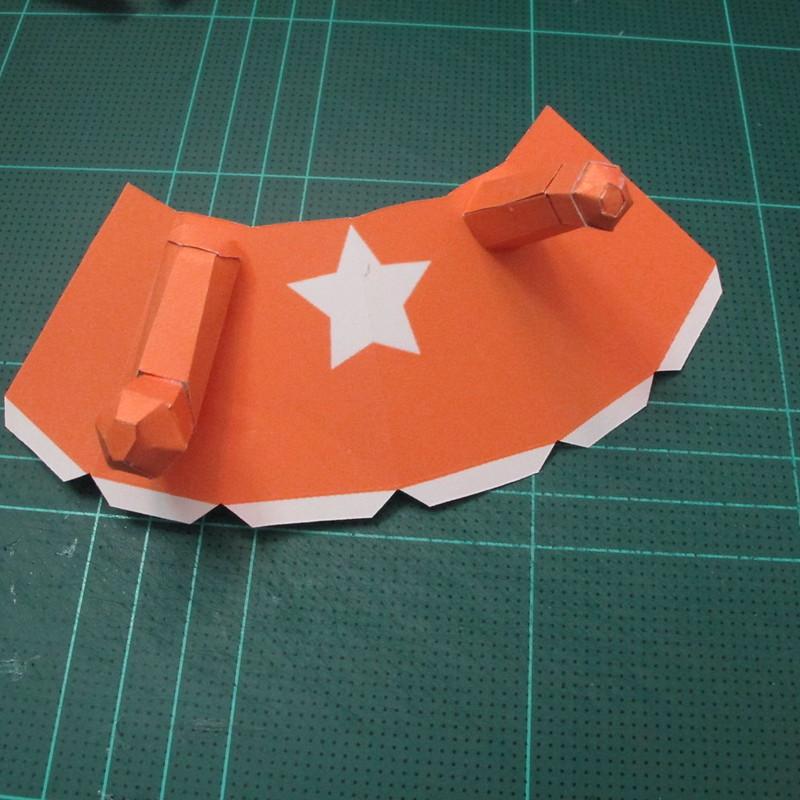 วิธีทำโมเดลกระดาษคุกกี้รัน คุกกี้รสเมฆ (Cookie Run Cloud Cookie  Papercraft Model) 006